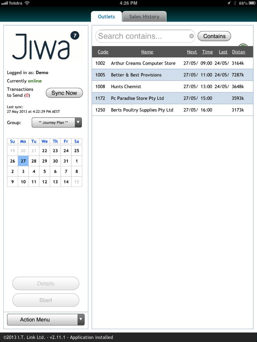 Jiwa Field Sales Module