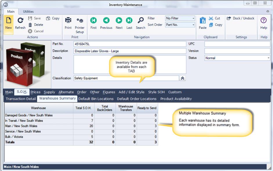 Jiwa Inventory Control Module